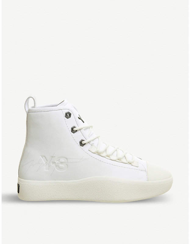 Adidas Y3 Bashyo 2 leather high-top trainers