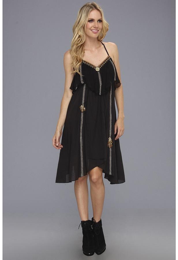 Free People Enchanted Rock Dress (Black) - Apparel