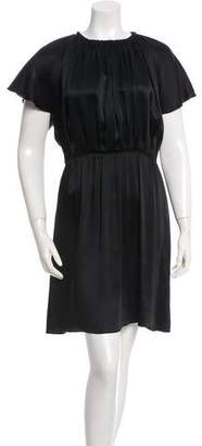 Lanvin Ruched Scoop Neck Dress