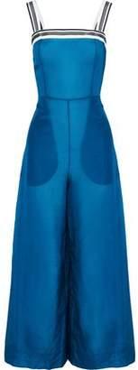 Diane von Furstenberg Grosgrain-Trimmed Cotton And Silk-Blend Organza Jumpsuit