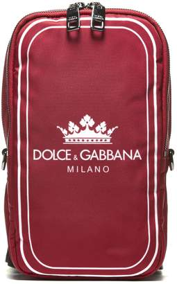 Dolce & Gabbana Crown And Logo Print Shoulder Bag