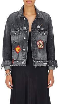 Amiri Women's Patchwork Distressed Denim Jacket