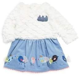 Catimini Baby Girl's Bi-Material Fit-&-Flare Dress