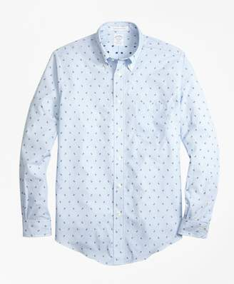 Brooks Brothers Regent Fit Stripe with Anchors Sport Shirt