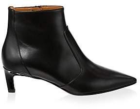 Aquatalia Women's Marilisa Leather Point-Toe Ankle Boots