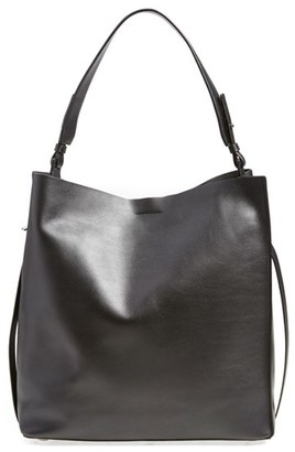 Allsaints 'Paradise North/south' Calfskin Leather Tote - Black $378 thestylecure.com