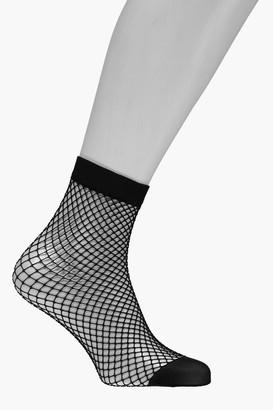 boohoo Medium Scale Fishnet Ankle Socks