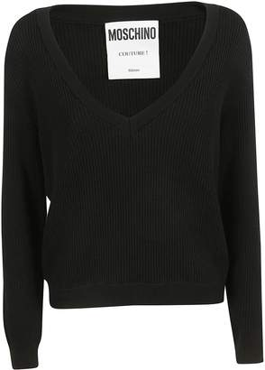 Moschino Layered Ribbed Knit Sweater