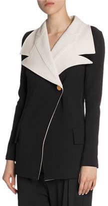 Proenza Schouler Suiting Novelty-Lapel Blazer