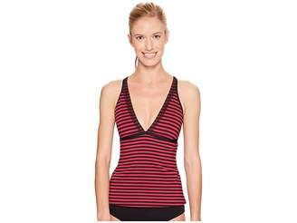 Nike Laser V-Neck Tankini Top Women's Swimwear