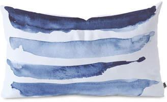 Deny Designs Devin Slatas Indigo Stripes Oblong Throw Pillow