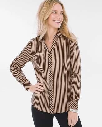 No Iron Sateen Striped Caroline Shirt