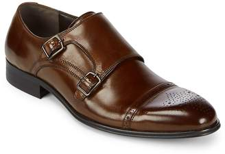 Kenneth Cole Men's Double Monk-Strap Leather Dress Shoes