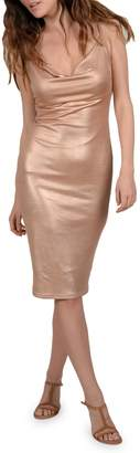 Molly Bracken Metallic Sheath Dress