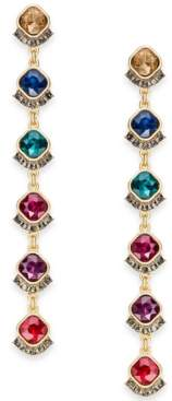 INC International Concepts I.n.c. Gold-Tone Multi-Crystal Linear Drop Earrings, Created for Macy's