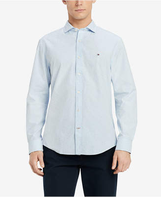 Tommy Hilfiger Men's Big & Tall all Classic Fit Dash Print Dobby Shirt, Created for Macy's