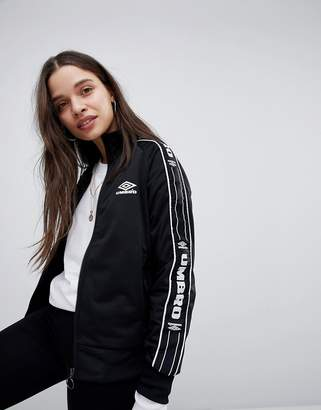Umbro Zip Front Tracksuit Jacket With Tape Logo