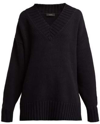 Joseph Sloppy Joe Cotton Blend Oversized Sweater - Womens - Navy
