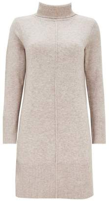 Wallis Stone Textured Roll Neck Jumper Dress