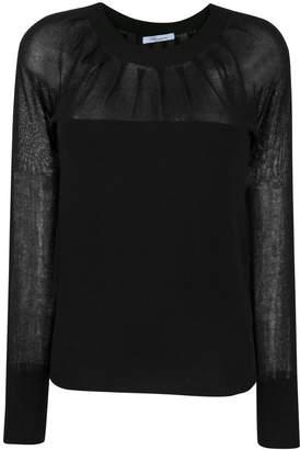 Blumarine sheer chest knit sweater