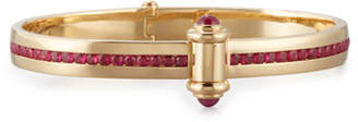 Stephen Webster 18K Yellow Gold I Promise to Love You Bangle with Rubies