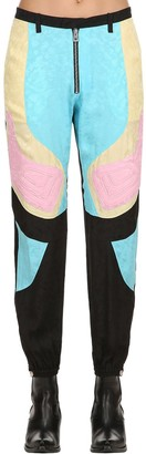 Zadig & Voltaire Printed Color Block Silk Pants