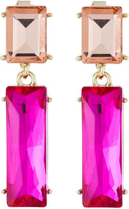 Emily and Ashley Greenbeads By Crystal Double-Drop Earrings, Pink/Coral