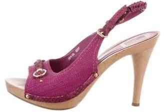 Christian Dior Embellished Slingback Sandals