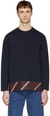 Kolor Navy Contrast Sweater