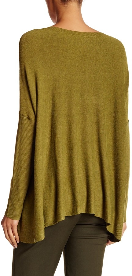 Eileen Fisher Scoop Neck Draped Boxy Sweater 2