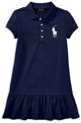 Polo Ralph Lauren Girls' Big Pony Polo Shirt Dress - Little Kid