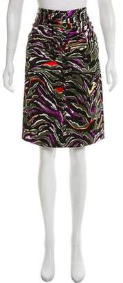 Balenciaga Animal Print Pencil Skirt