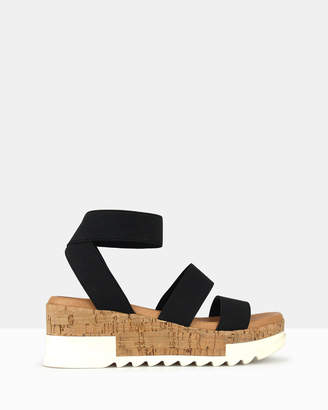 betts Bandit Cork Wedge Sandals