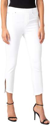 Liverpool Chloe High Waist Slit Hem Pull-On Skinny Jeans