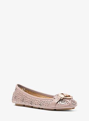 Michael Kors Fulton Floral Perforated Leather Moccasin