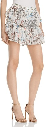 WAYF Freya Floral Ruffle Mini Skirt - 100% Exclusive $68 thestylecure.com