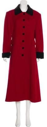 Halston Long Sleeve Long Coat