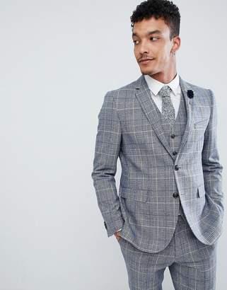 Blend of America Harry Brown Wedding Wool Check Slim Fit Jacket