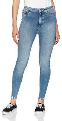 New Look Women's Fray Hem Supersoft Skinny Jenna Jeans