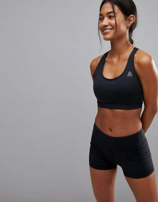 Reebok Medium Support Hero Power Bra In Black