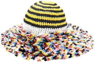 Missoni knitted beach hat