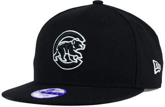 New Era Kids' Chicago Cubs Black White 9FIFTY Snapback Cap