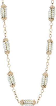 Grace Kelly Collection Simulated Pearl Station Necklace