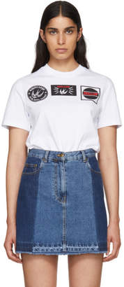 McQ White Swallow Print T-Shirt