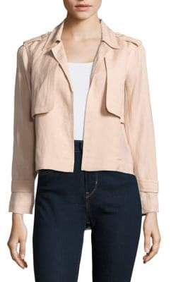 Leo & Sage Solid Open-Front Jacket