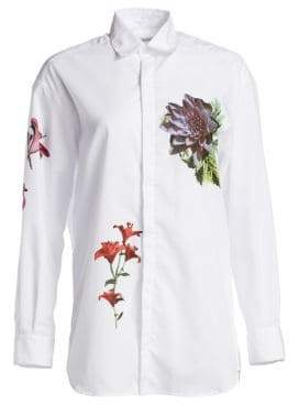 Each X Other Floral Poplin Blouse