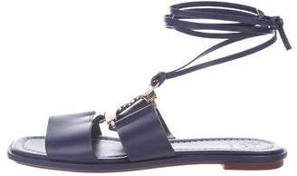 Tory Burch Ankle Strap Leather Sandals