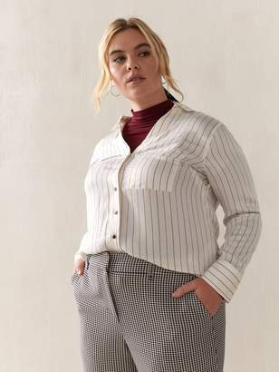 Striped Shirttail Tunic Shirt - Addition Elle