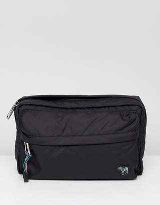 Paul Smith zebra logo nylon crossbody bag in black