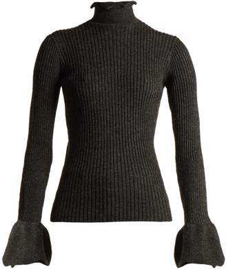 Raine cut-out ribbed-knit alpaca-blend sweater